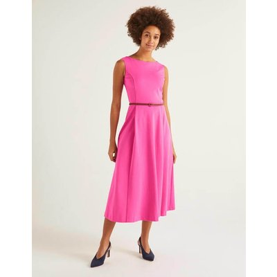 Mary Ponte Midi Dress Pink Women Boden, Multicouloured