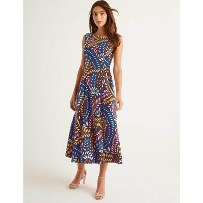 Mary Ponte Midi Dress Navy Women Boden, Navy