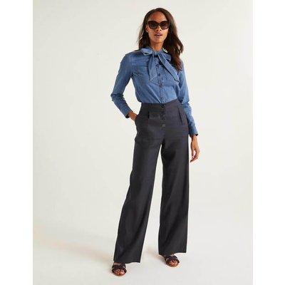Bamburgh Trousers Navy Women Boden, Navy