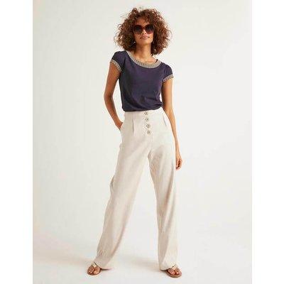 Bamburgh Trousers Natural Women Boden, Natural