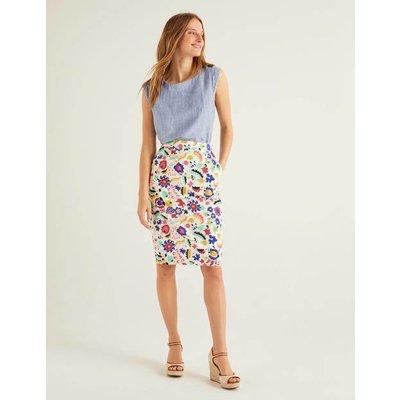 Gabriella Pencil Skirt Ivory Women Boden, Ivory