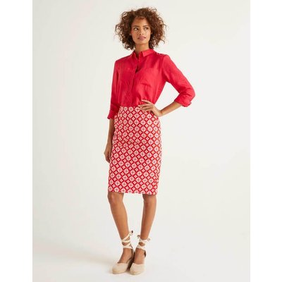 Gabriella Pencil Skirt Red Women Boden, Navy