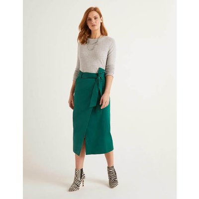 Pevensie Pencil Wrap Skirt Green Women Boden, Green