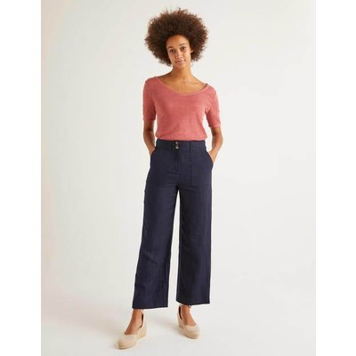 Filey Seamed Pocket Trousers Navy Women Boden, Navy