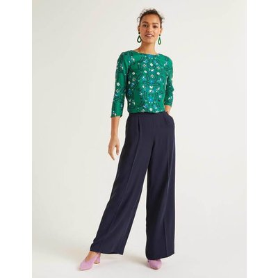 Gresham Trousers Navy Women Boden, Navy