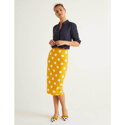 Chatterley Pencil Skirt Yellow Women Boden, Yellow