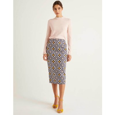 Chatterley Pencil Skirt Navy Women Boden, Navy