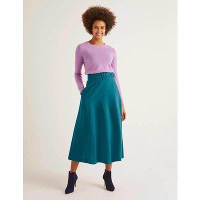 Poste Belted Midi Skirt Blue Women Boden, Blue