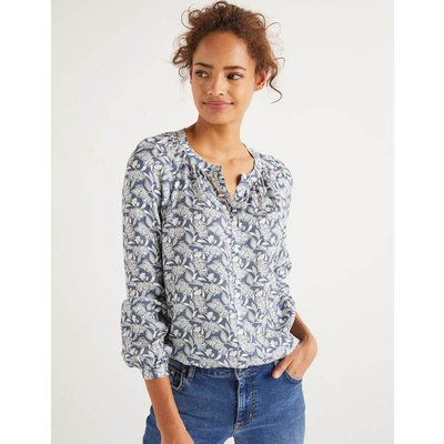 Naomi Blouse Blue Women Boden, Blue