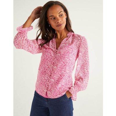 Evangeline Blouse Pink Women Boden, Pink