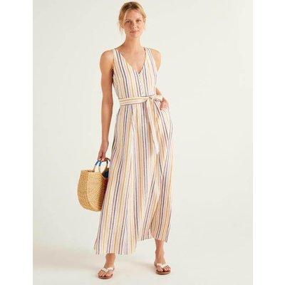 Livia Linen Maxi Dress Multi Women Boden, Multicouloured