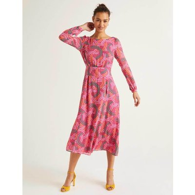 Ingrid Midi Dress Pink Women Boden, Pink