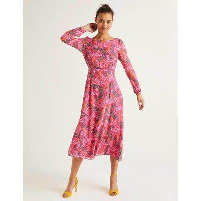 Ingrid Midi Dress Pink Women Boden, Pink