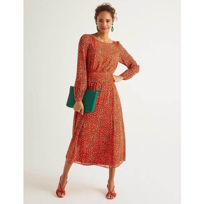 Ingrid Midi Dress Orange Women Boden, Orange