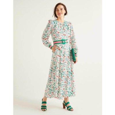 Victoria Midi Dress Ivory Women Boden, Ivory