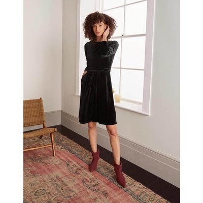 Abigail Velvet Dress Black Women Boden, Black