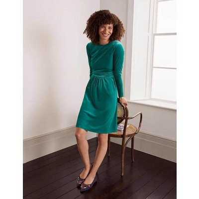 Abigail Velvet Dress Green Women Boden, Green