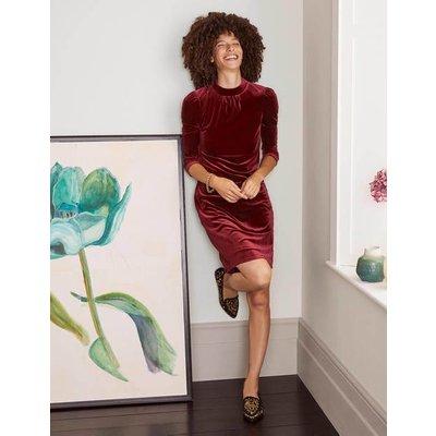 Livia Velvet Shift Dress Purple Women Boden, Purple