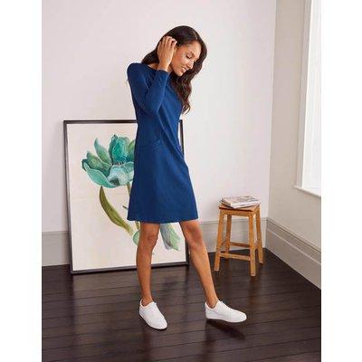 Ingrid Jacquard Shift Dress Blue Boden, Blue