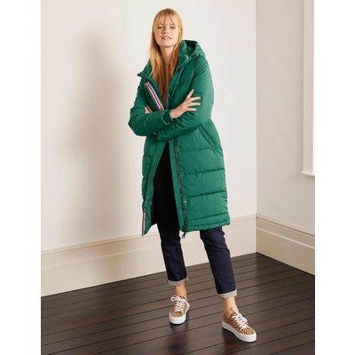 Thompson Puffer Coat Green Christmas Boden, Green