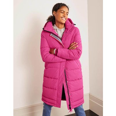 Thompson Puffer Coat Pink Christmas Boden, Pink