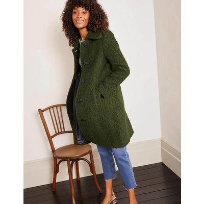 Elveden Textured Coat Green Women Boden, Green