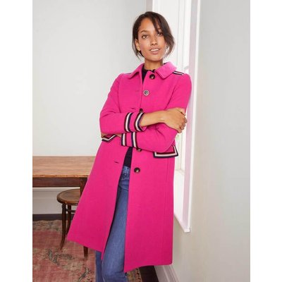 Middleham Trim Coat Pink Women Boden, Pink