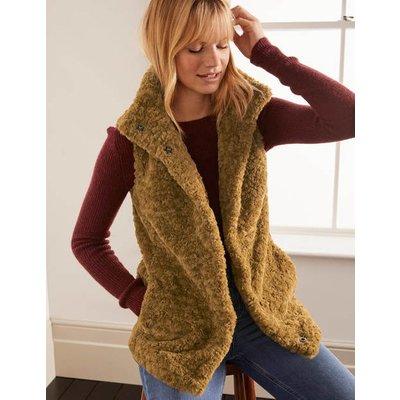 Haddon Faux Fur Gilet Camel Women Boden, Camel