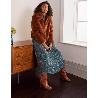 Elsted Faux Fur Jacket Brown Christmas Boden, Red