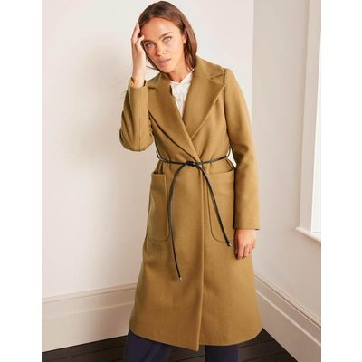 Edale Belted Coat Brown Women Boden, Camel