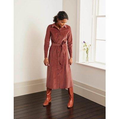 Judith Cord Shirt Dress Brown Women Boden, Red