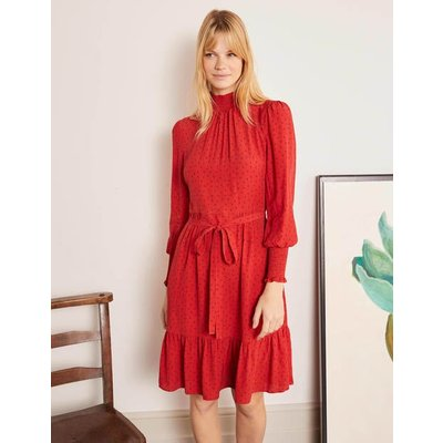 Carrie Smocked Dress Red Women Boden, Red