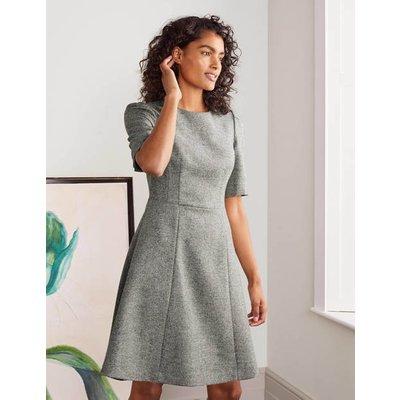Eve British Tweed Dress Grey Women Boden, Grey