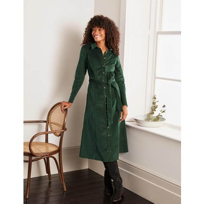 Judith Cord Shirt Dress Green Women Boden, Green