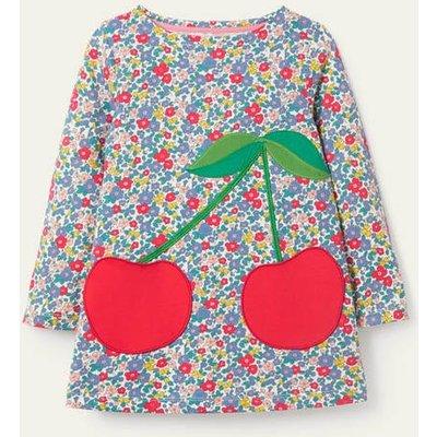 Appliqué Pocket Tunic Floral Blossom Cherries Boden, Floral Blossom Cherries
