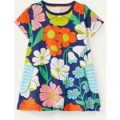 Short-sleeved Printed Tunic Multi Fabulous Floral Boden, Multi Fabulous Floral