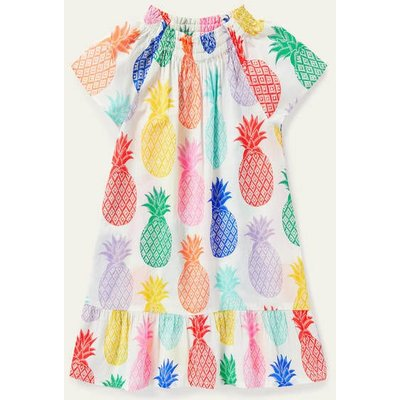 Smocked Printed Kaftan Multi Giant Pineapple Geo Boden, Multi Giant Pineapple Geo
