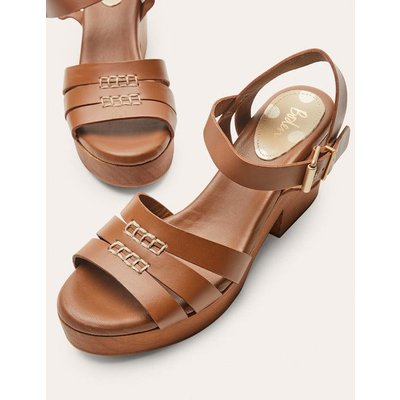 Heeled Sandal Clogs Tan Women Boden, Tan