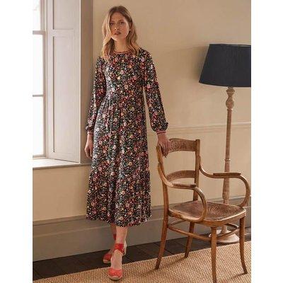 Embroidered Jersey Midi Dress Multi, Rainbow Floral Boden, Multi, Rainbow Floral