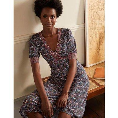 Eva Jersey Midi Dress Mariner Blue, Prairie Floral Women Boden, Mariner Blue, Prairie Floral