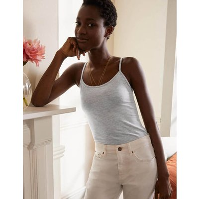 Plain Cami Grey Marl Women Boden, Grey Marl