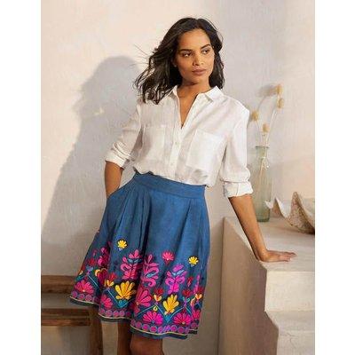 Sasha Embroidered Skirt Aircraft Women Boden, Aircraft
