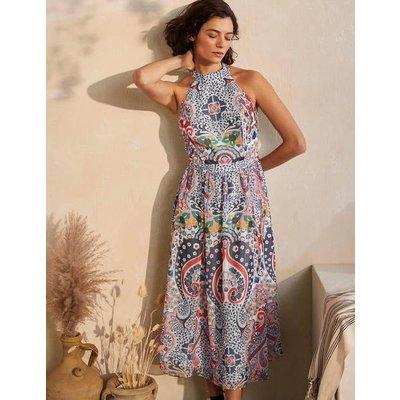 Tori Midi Dress Mariner Blue, Kaleidoscope Women Boden, Mariner Blue, Kaleidoscope