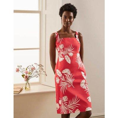 Yolande Shift Dress Cherry Red, Jungle Bouquet Women Boden, Cherry Red, Jungle Bouquet