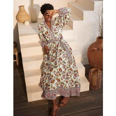 Amelia Cotton Maxi Dress Ivory, Summer Chintz Women Boden, Ivory, Summer Chintz