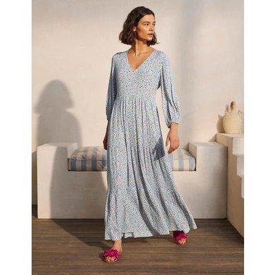 Blouson Sleeve Maxi Dress Ivory, Leafy Floral Women Boden, Ivory, Leafy Floral