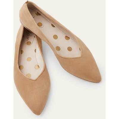 Julia Pointed Flats Brown Boden, Camel