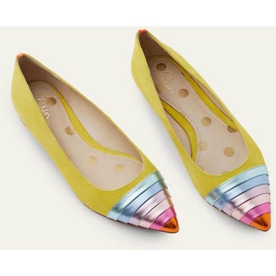 Louise Flats Chartreuse Women Boden, Chartreuse