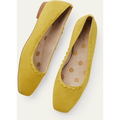 Olive Ballerinas Chartreuse Women Boden, Chartreuse