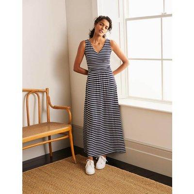 Sienna Jersey Maxi Dress Navy/Ivory Women Boden, Navy/Ivory